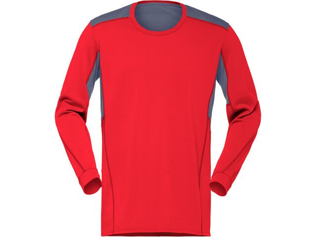 Norrøna Falketind Super Wool Shirt Herr crimson kick